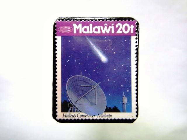 マラウイ ハレー彗星切手ブローチ 040