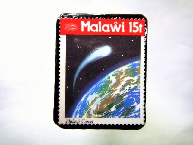 マラウイ ハレー彗星切手ブローチ 041