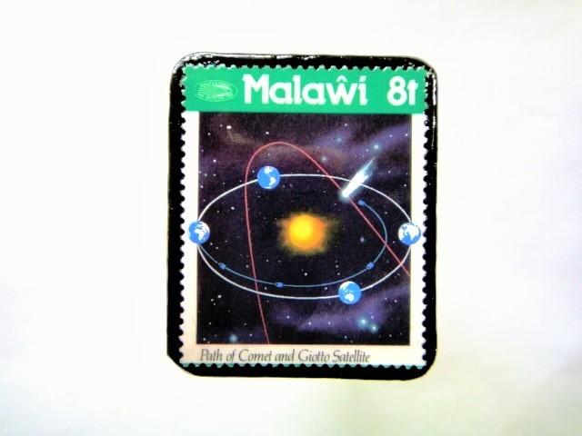 マラウイ ハレー彗星切手ブローチ 042