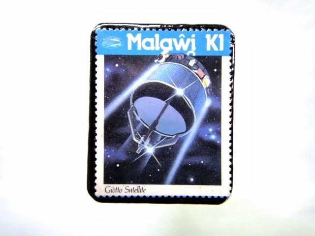 マラウイ ハレー彗星切手ブローチ 043
