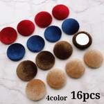 Thanks price☆【cbtt3964】【4color 16pct】【Flat Round】velvet cabochon