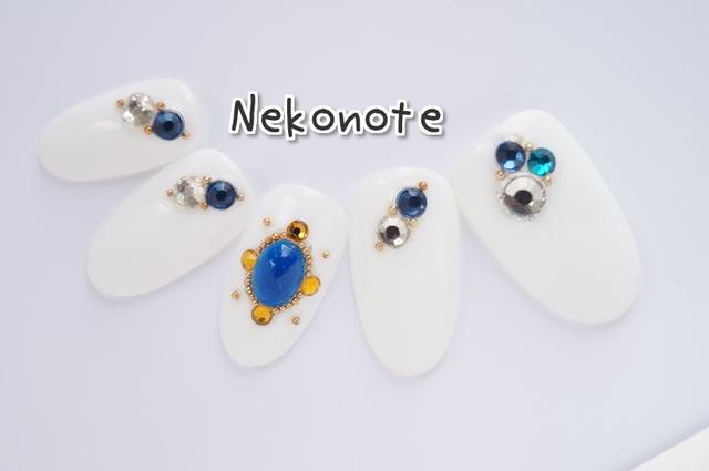 純白の輝く宝石ネイルチップ No.2!