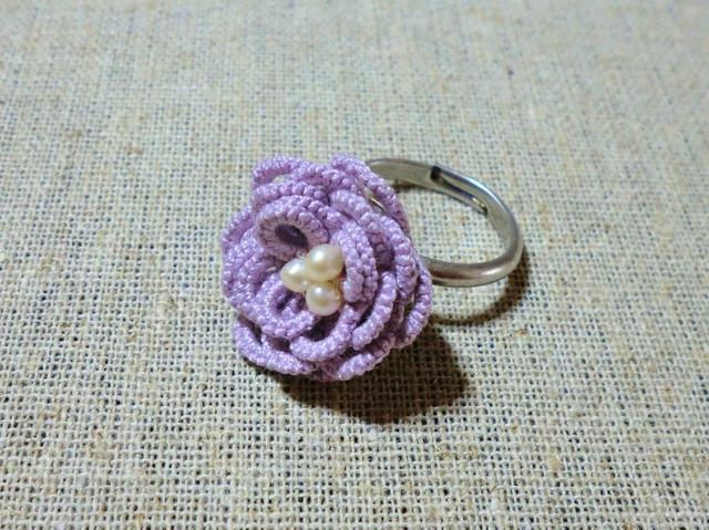 大きなお花のリング
