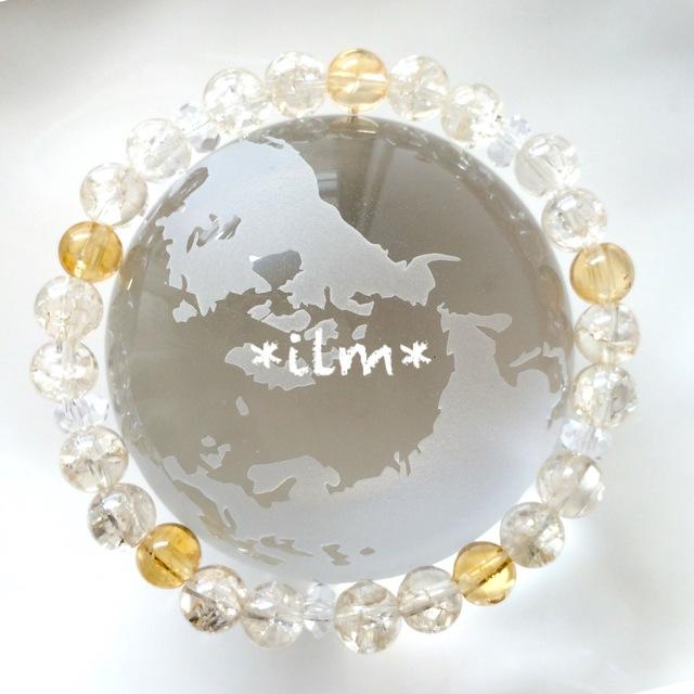 天然石ブレスレット☆シトリン&シャンパンクォーツ