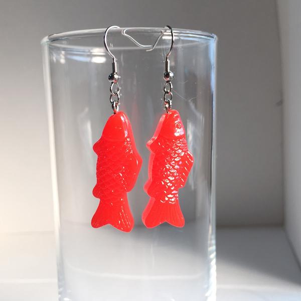 魚ピアス(red)