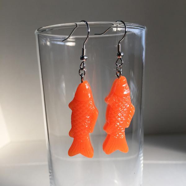 魚ピアス(orange)