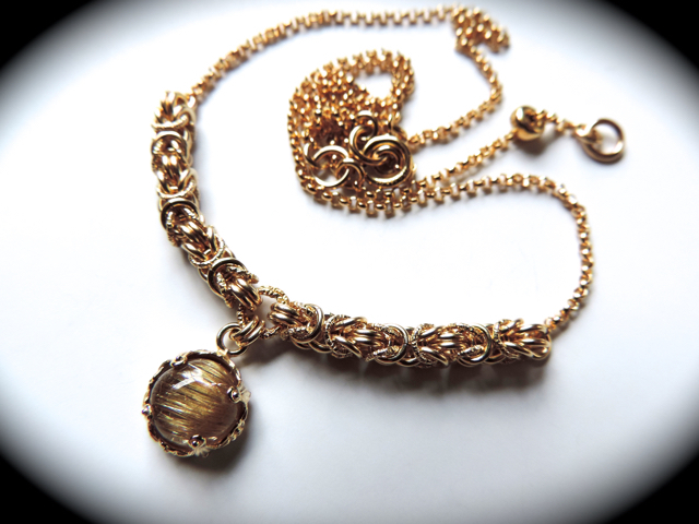 S様♪御予約作品『 Bright eyes ( eternity ) 』Necklace by K14GF