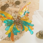 博物館の蝶バレッタ(hair ornaments of Museum butterfly)