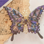 命の蝶のバレッタ ~Judgment Day Purple~(hair ornaments of 「life of butterfly」〜Judgment Day Purple〜)