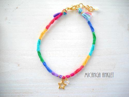 <再販>MICANGA ANKLET Rainbow