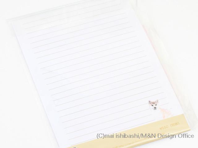 柴犬のイラストレターセットピンク便箋封筒 ハンドメイド