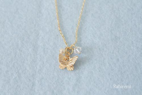 ひらひら蝶のネックレス