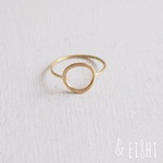 【再販】- Brass - Gold Circle Ring (L)