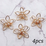 【pprr3701chmm】【4個】pearl flower wire parts