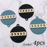 【chmm3706knz】【2color 4pct】design plate charm