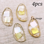【chmm3709acrc】【4pct】clear resin charm