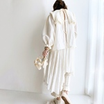 ◯ 凸凹 linen sailor blouse ◯ yuka haseyama