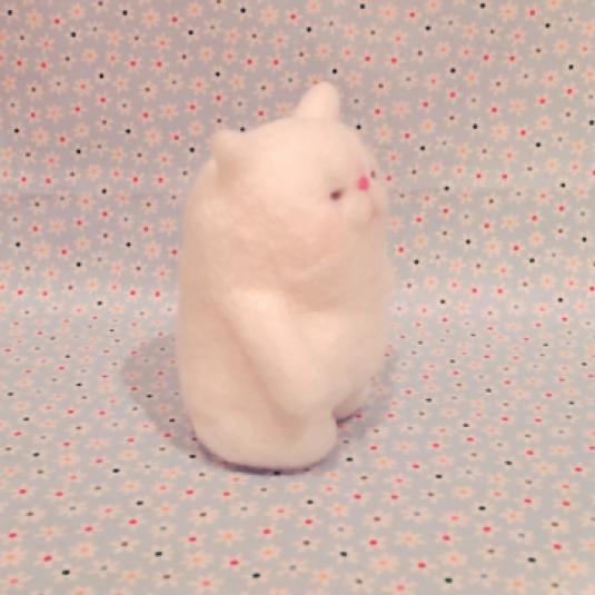羊毛猫さん人形    大きいほう