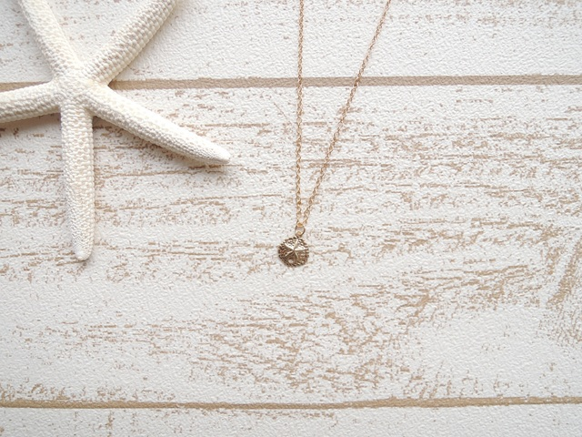 ☆SALE☆ 14kgf Sand Dollar ネックレス