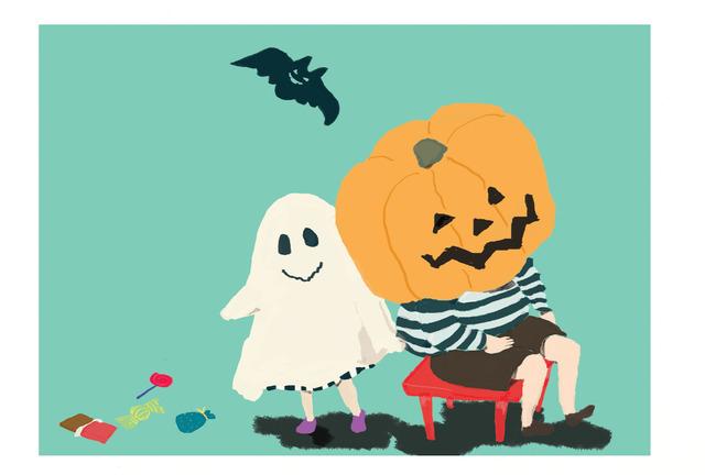 Halloween (ポストカード2枚セット)020