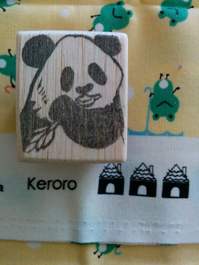 【アウトレット】笹かじりパンダはんこ/消しゴムはんこ