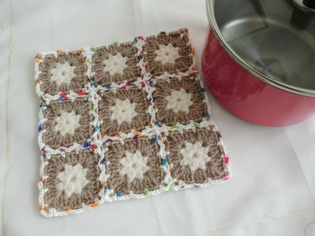 sale!ほっこり手編みの鍋敷き(ポットマット)