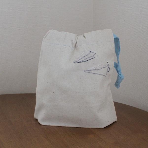 巾着(紙飛行機)