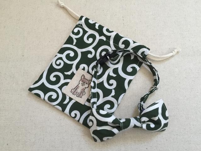 柴ちゃん蝶ネクタイセット 緑?