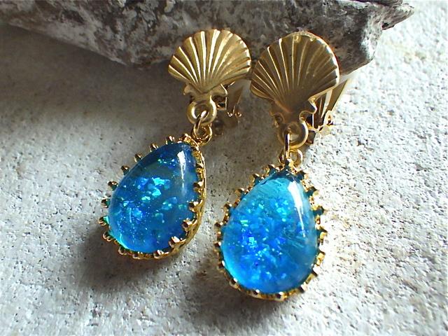 Blue Ocean Mermaid Earrings