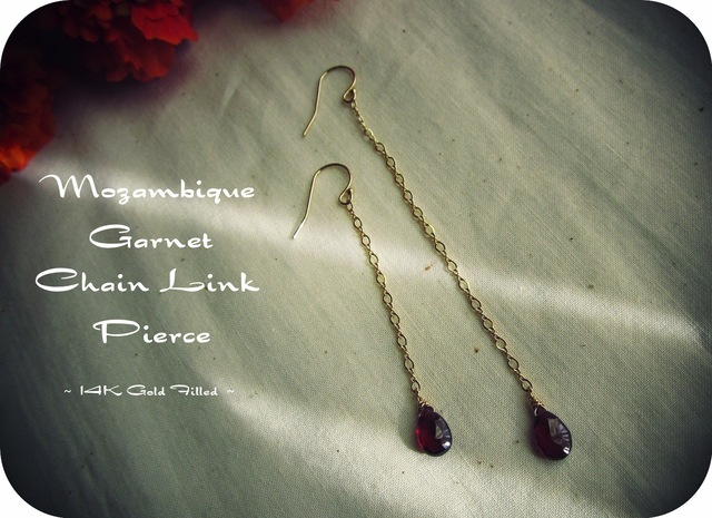 Mozambique Garnet Chain Link Pierce.