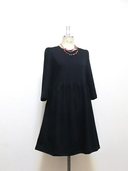 リトルブラック☆最高級綿☆フレアドレス