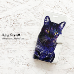 【SALE】GALAXY CAT 手帳型 iPhone7plus/8plusケース 猫