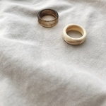 marble ring -ivory-