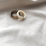 marble ring -brown-