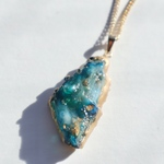 Fake mineral necklace ~deep ocean~