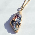 Fake mineral necklace ~purple lapis lazuli~