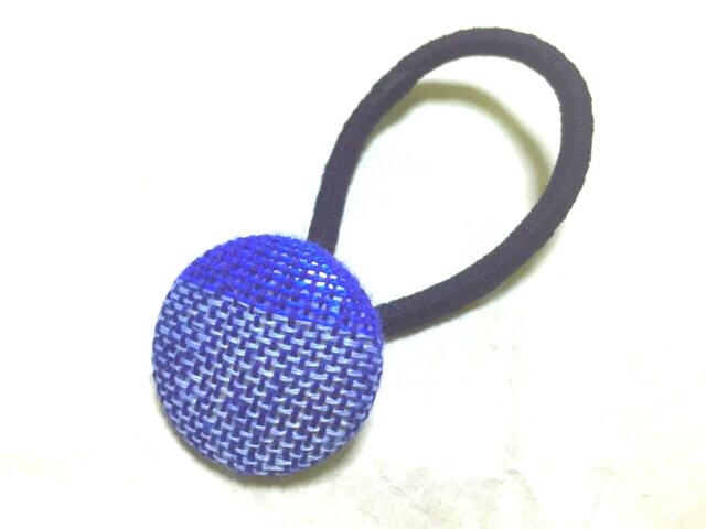 さをり織り藍染めヘアゴム