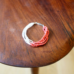 living coral サンゴみたいな優しい色味の大人ピンク ブレスレット Vintage beads bracelet #4