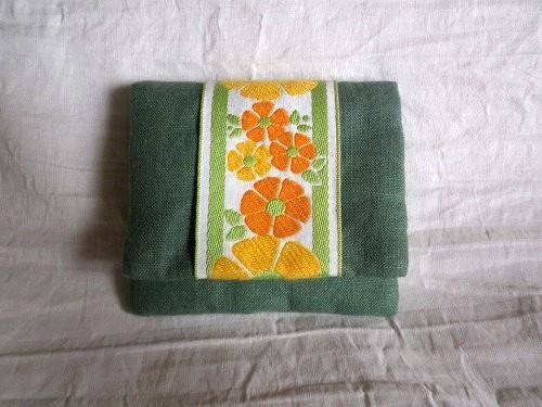mini  purse pouch ( green )
