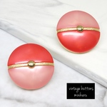 RED(2pcs)vintage buttons