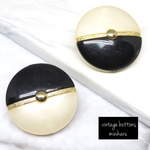 BLACK(2pcs)vintage buttons
