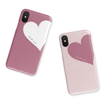 Big Heart♡桜色 名入れ/スマホケース/iPhoneケース/iPhoneXR/iPhone8/iPhone11pro/XZ3/Xperia