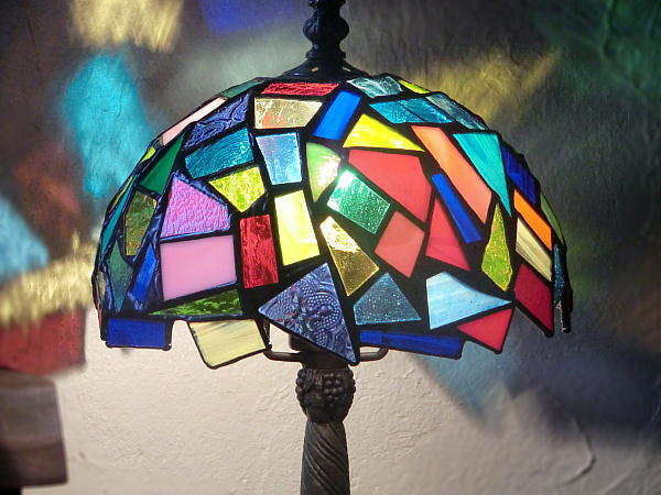 「夢の欠片」 ステンドグラス ランプ 卓上 照明