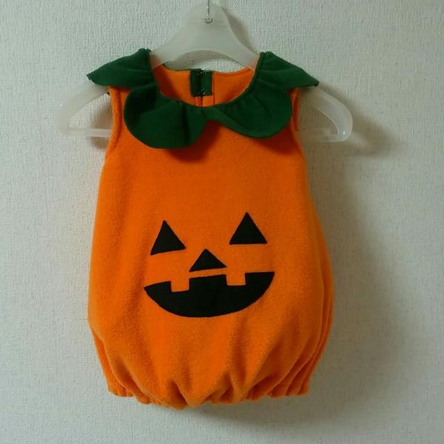 60a51664d43a58 かぼちゃワンピース ハロウィン衣装・コスチューム サイズ80,90,100cm ...