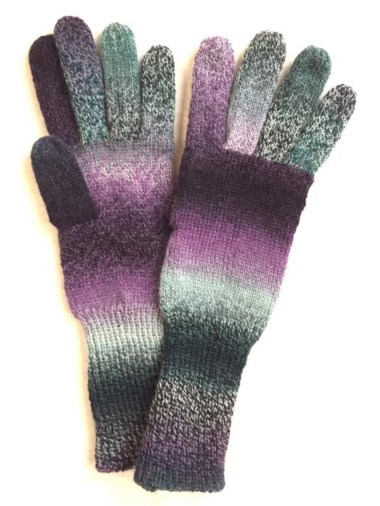 手編み5本指手袋 No.41