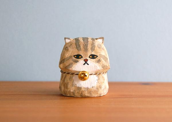 木彫り人形 ペルシャ猫  [MWF-105]