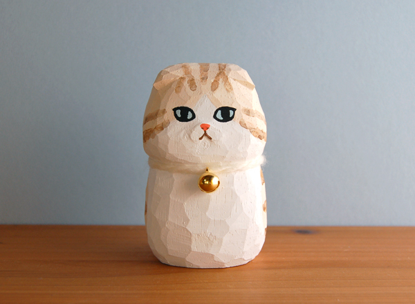 木彫り人形 スコティッシュフォールド  [MWF-106]