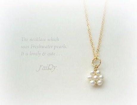 ツキノシズク **floret necklace