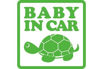 BABY IN CAR オリジナルステッカー「かめ」