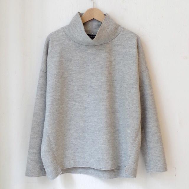 圧縮ウール天竺ハイネックプルオーバー (gray)